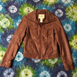 American Rag Grey faux leather jacket